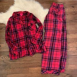 Plaid Victoria's Secret pajama set